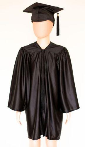 Pre School Cap and Gown Black