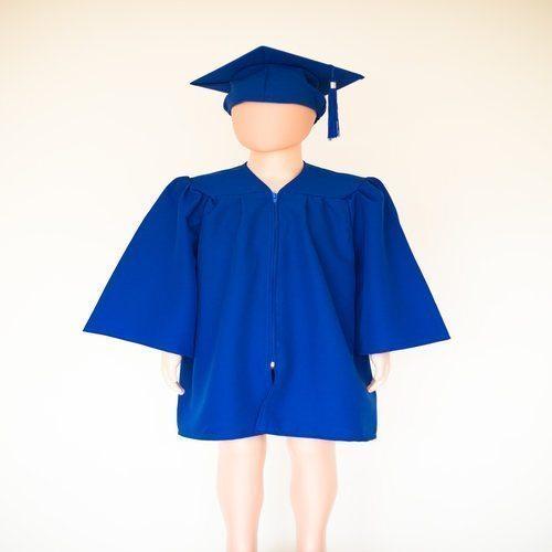 Pre School Cap and Gown Royal Blue - Matte