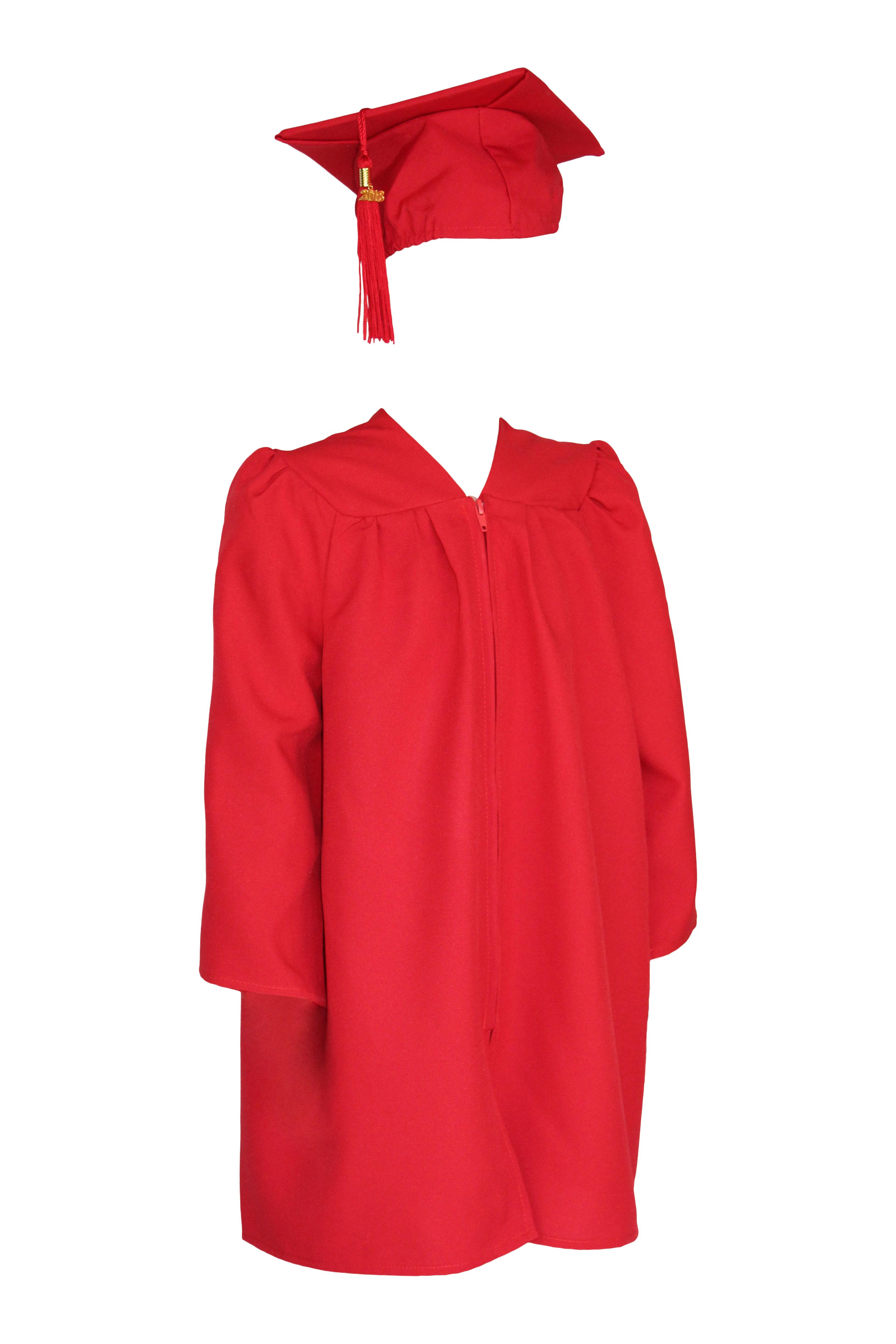 Preschool Cap and Gown – Red Matte | Celtic Graduations