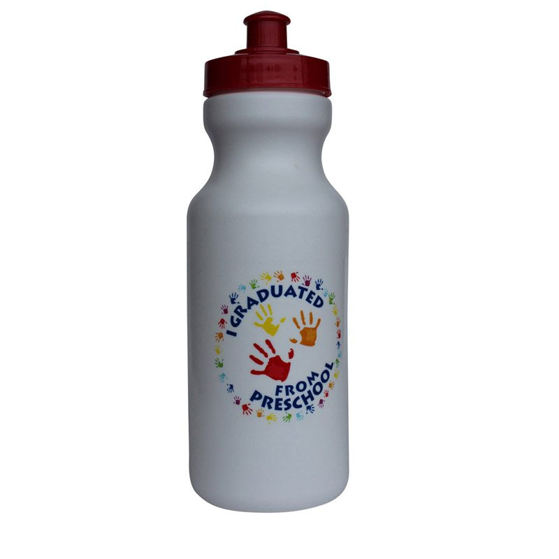 I Graduated From Preschool Handprint Water Bottle